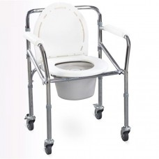 ALUM FOLDING ADJ COMMODE CHAIR  R894L