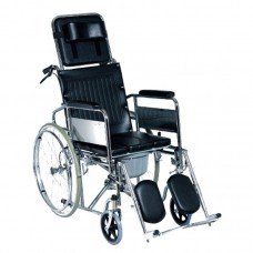 RECLINING COMMODE WHEELCHAIR R609GC